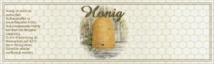 Etikette Honigmotiv