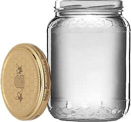 Honigglas Euro 1kg